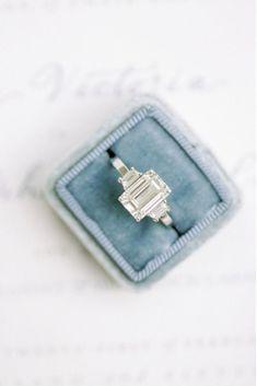 Eye-Catching Emerald Cut Engagement Rings ❤ See more: http://www.weddingforward.com/emerald-cut-engagement-rings/ #weddings #gorgeousweddingringsjewelry