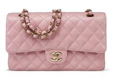 A pink cavair leather medium double flap bag #chanel