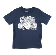 monster truck t-shirt, navy OshKosh t-shirt, t-shirt OshKosh