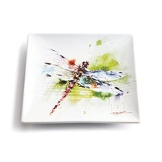 Dean Crouser Dragonfly Stoneware Snack Plate, 2015 Amazon Top Rated Specialty Plates #Kitchen