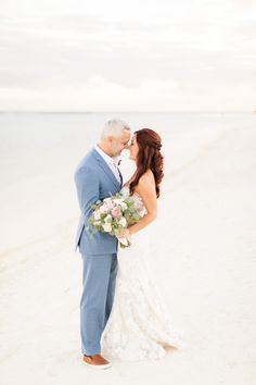 """Lauren said """"yes"""" to this Mira Zwillinger dress for her Mexico beach wedding."""