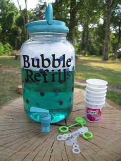 bubble refills for any kids kind of birthday party.