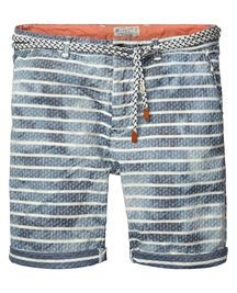 sun-bleached chambray shorts