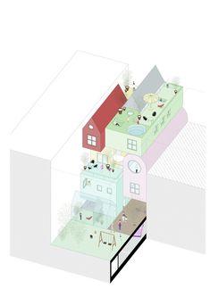 """RRURBAN"" Explores the Potential of Individualism in Collective Urban Housing,Cortesía de MAPAA"