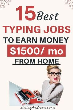 15 legitimate home typing jobs for making money. Typing jobs come to our mind whenever we think of making money from home. The best part is that there are many legitimate home typing jobs to work from home. Money Today, Earn Money From Home, Make Money Online, Start A Business From Home, Work From Home Jobs, Online Business, Make Easy Money, Way To Make Money, Online Typing Jobs