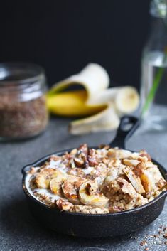 Baked oatmeal with banana and peanut butter, Healthy breakfasts, Beaufood recipes, Breakfast without Healthy Sweets, Healthy Baking, Healthy Snacks, Healthy Recipes, Cheap Clean Eating, Clean Eating Snacks, Breakfast Snacks, Breakfast Recipes, Breakfast Healthy
