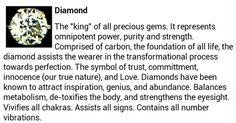 Diamond gemstone crystal healing