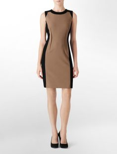 Calvin Klein colorblock dress
