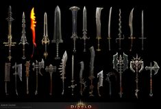 Items by Aaron Gaines on ArtStation. Fantasy Weapons, Fantasy Rpg, Medieval Fantasy, Medieval Swords, Lance Weapon, Concept Art Tutorial, Writing Fantasy, Beast, Sword Design