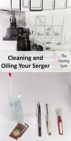 How to Oil and Clean your Serger