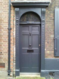 Grey Georgian door