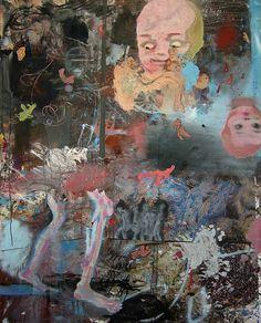 Daniel Richter painting by Bart van Damme, via Flickr