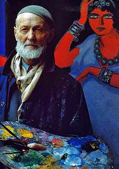 "Dutch Fauvist painter Kees van Dongen (1877-1965) by Russian-American photographer & artist Alexander Liberman (1912 -1999) for ""The Artist in His Studio,"" published 1960. via sitios en el corazón"