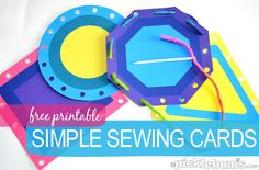 Simple Sewing Cards - free printable