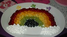 Fruit rainbow care bear party idea