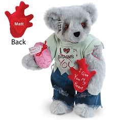 "15"" Zombie Love Bear from Vermont Teddy Bear - I thought it would be perfect for Pete for Valentine's Day. $90 for a stuffed bear? Oh yeah... that's why we don't celebrate February 14th."