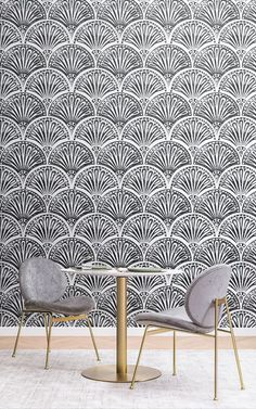 6 Art Deco Wallpapers To Create A Luxurious Interior Wallpaper Art Deco, Modern Wallpaper, Art Deco Stil, Modern Art Deco, Art Deco Print, Art Deco Design, Living Room Themes, Black And White Wallpaper, Pink Art