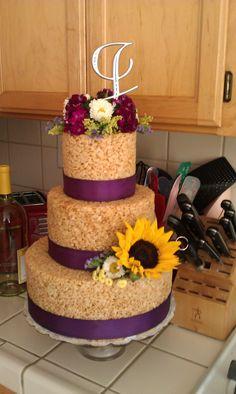 Rice Crispy Cake I made for Jen's Bridal Shower.