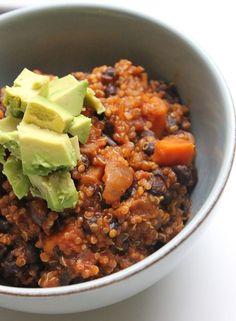 Vegan Quinoa & Sweet Potato Chili