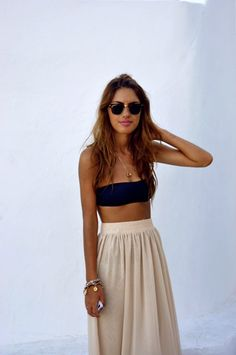 Summer vibes - boob tube & maxi skirt