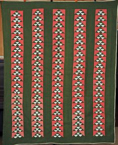 Antique Flying Geese Pieced Quilt c1900 by ggibson on Etsy, $850.00