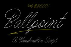 Ballpoint Script by Drew Melton on Creative Market