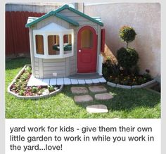 Would love a spot of land to create a garden with a playhouse