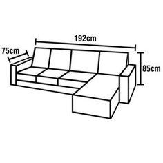 medidas de sofá de 3 lugares - Pesquisa Google