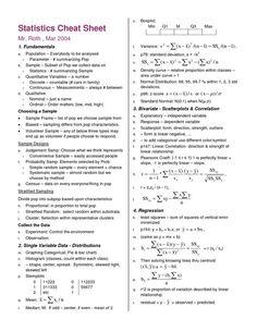 statistics symbols cheat sheet - Google Search: