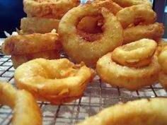 Gluten Free Onion Rings // made these last night. Not sure if it was because I used a different flour mix (better batter) but it was sooooo much thicker than it should've been. Ended up adding over twice the amount of milk called for. And adding some black pepper and cayenne.