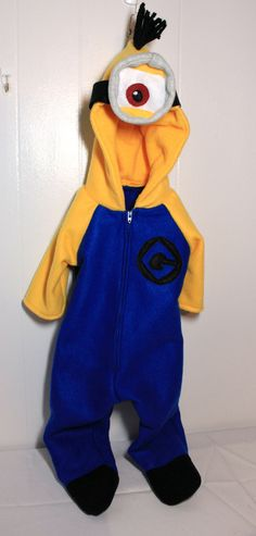 Baby Minion Inspired Costume Size 6 Months
