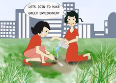 Cartoon on environment day