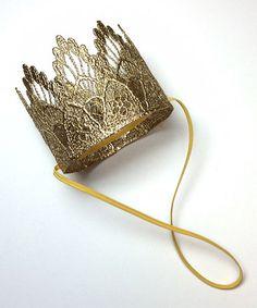 Gold Sienna Crown by Love Crush Bowtique #zulily #zulilyfinds Great for newborn photos