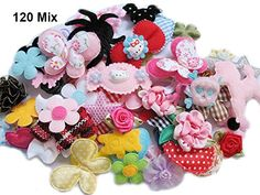 YYCRAFT Sale 120 Assorted Fabric Applique Scrapbooking Ribbon Flowers Bows Embellishment Sewing Craft Wedding Baby Shower * Check out this great product. (This is an affiliate link) Wedding Ornament, Craft Wedding, How To Make Pinwheels, Fabric Crafts, Sewing Crafts, Headband Making Station, Organza Ribbon, Ribbon Flower, Making Hair Bows