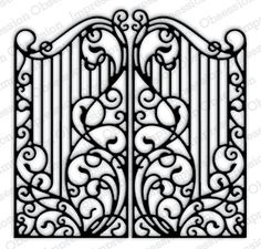 Impression Obsession - Die - Wrought Iron Fence