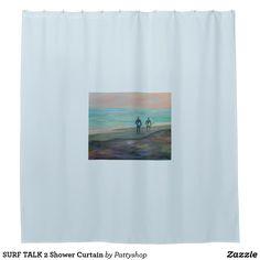 SURF TALK 2 Shower Curtain