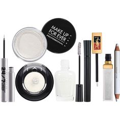 A Wonderland of Winter White Makeup ❤ liked on Polyvore featuring makeup and beauty