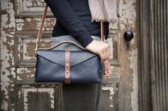 Handmade Leather Clutch by Flux Productions