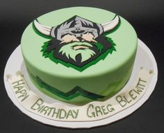 Raiders Logo Birthday Cake - by Nada's Cakes Canberra