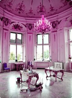 radiant orchid lighting and decoration