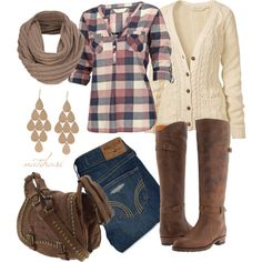 A fashion look from October 2012 featuring Fat Face tops, Fat Face cardigans and Hollister Co. jeans. Browse and shop related looks.