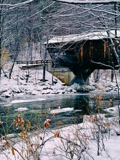 Covered Bridge In Wintry Vermont is a photograph by Pixabay. Source fineartamerica.com