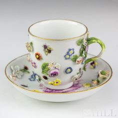 Buy online, view images and see past prices for Antique Meissen Floral Encrusted Teacup Saucer Set. Invaluable is the world's largest marketplace for art, antiques, and collectibles.