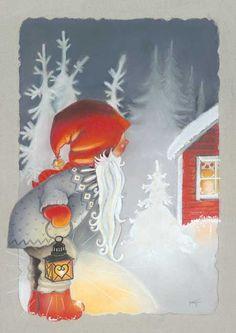 Klikkaa sulkeaksesi Christmas Clipart, 1st Christmas, Vintage Christmas Cards, Christmas Crafts, Christmas Journal, The Night Before Christmas, Craft Activities, Gnomes, Illustrators