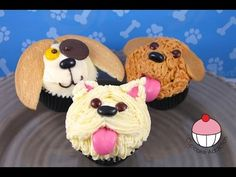 Make Puppy Dog Cupcake | Decoration Ideas 강아지 컵케이크 데코하는 법 DIY Holiday Treats, Christmas Gift Ideas - YouTube