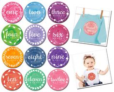 Painted Pixie Baby Milestone stickers   Boutique Brands