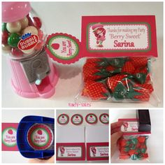 Strawberry Shortcake Birthday Girl Party Printable THANK YOU favor tags Personalized by PartyTales. $5.00, via Etsy.