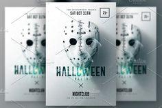 Halloween Minimalist Flyer v3 by Creative Flyers on @creativemarket