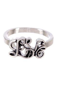 """Love"" Scroll Ring"