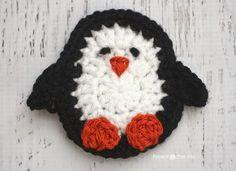 Repita Crafter Me: P está para el pingüino: Crochet Pingüino Applique